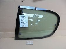 PEUGEOT 206 3DOOR NEARSIDE PASSENGER SIDE REAR QUARTER WINDOW GLASS