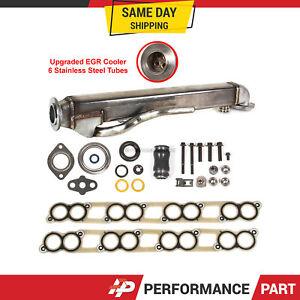 Upgraded EGR Cooler Kit w/ Gaskets for Ford F-250 F-350 6.0L V8 Diesel Turbo