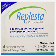 Replesta Wafer 4ct Vitamin D Deficiency HIGH DOSE (not low dose NX) 50K IU