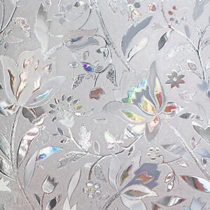 PVC Frosted Static Cling Stained Glass Film Window Privacy Sticker Home Decor