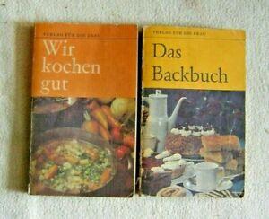 DDR Kochbuch WIR KOCHEN GUT + DAS BACKBUCH - Kult - Verlag für die Frau