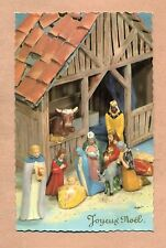 JOYEUX NOËL - CRECHE - SANTONS - ÂNE / ROIS MAGES / JESUS / MARIE / JOSEPH /