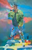 Abstract Portrait Kendrick Lamar Cop Car Hip Hop Wall Art Original Painting