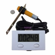 LCD Digital 0-99999 Counter 5 Digit Plus UP Gauge + Proximity Switch Sensor