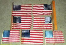 Vintage 48 Star US Flags ~ Lot of 7 ~ WWI - WWII