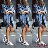 New Women's Denim Long Coat Jeans Coat Fashion Jacket Loose Casual Streetwear