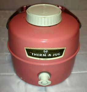 KNAPP Monarch Pink Therm-A-Jug Insulated Thermos Hot/Cold Vintage One Gallon