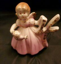 Birthday Angel Girl Porcelain Figurine for Age 4 years old Joseph Original