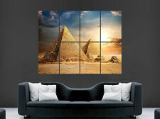 EGYPT CAIRO PYRAMIDS POSTER PRINT SKY CLOUDS DESERT IMAGE HUGE LARGE WALL ART