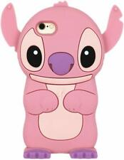Pink Stitch Case Cute Movable Ear Flip Silicone Cover for iPhone 6 / 6s 4.7""