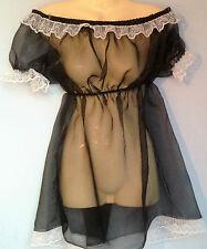 organza abito adulto bambino costume Sissy francese maid fetish Boob Tube 8-22