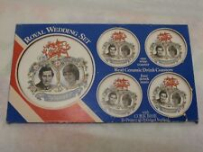 Prinzessin Diana Prince Charles & Diana Royal Wedding Set Untersetzer