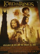 LORD OF THE RINGS - THE TWO TOWERS, normal movie poster size,.USED, RARE