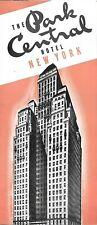 "Vintage 1936 PARK CENTRAL HOTEL Brochure New York City ""Gay White Way"" Manhattan"
