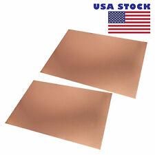 2pcs Copper Double Size 12x18cm Fr4 Pcb Clad Laminate Circuit Board Us Stock