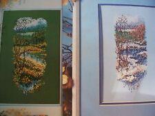 2 Set Summer Marigolds & Winter on Creek Magazine Cross Stitch Pattern (A)
