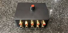 ASPHO5 Audio switcher RCA phono connectors, switch between 5 stereo devices