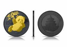 China 10 Yuan 2020 China Panda Silber Ruthenium Gold Edition