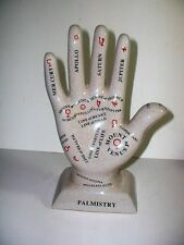 ceramic astrology hand. palmistry. palm reading statue