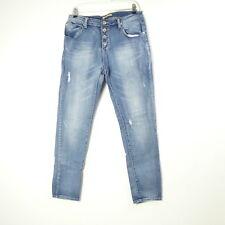 PLACE DU JOUR Boyfriend Jeans détérioré taille 40 (a182)