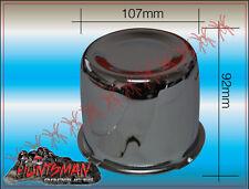 CHROME WHEEL RIM CAP 109MM CENTER TO SUIT TRAILER CAMPER 4X4 STEEL