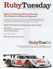 """2007 Alex Job Racing Porsche DP """"RubyTueGo"""" Rolex 24 Grand Am handout"""
