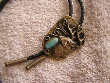 with Turquoise Elk Vintage Bolo Tie