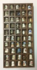 Lot de 50 dés à coudre différents métal porcelaine thimble