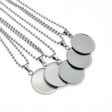 5 x Stainless Steel 25mm Cabochon Pendant & Ball Chain Necklace Sets DIY Kits