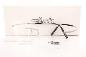 New Silhouette Eyeglass Frames TMA The Icon 5541 IS 6560 Twilight Ruthenium