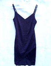 New Love J Women Junior Navy Dress Spaghetti Strap Size L