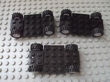 Lego Minifig ~ Lot Of 3 Black Car frames/Chassis With Wheels Car Truck Parts