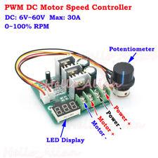 30A PWM DC Motor Speed Controller DC 6V 12V 18V 24V 48V 60V Digital LED Display