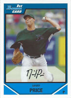 2007 Bowman Draft Draft Picks #BDPP55 David Price Red Sox Tampa Bay Rays