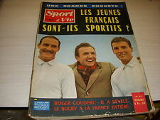 SPORT & VIE 81 02.1963 RUGBY Roger COUDERC FRANCE ECOSSE Les BATHYNAUTES F1 HILL