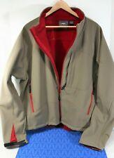 Men's Pacific Trail Khaki Green Red Fleece lined Jacket XXL, Near Mint!