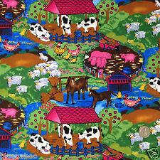 Per Mezzo Metro per bambini fattoria modello in tessuto rosso ciliegia 100% cotone larghezza 112cm
