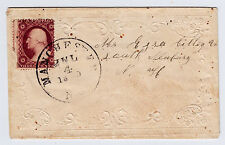 #26A-3 Cents 1857, 68R10L, MANCHESTER NC JUL 4 1859 to S. Newbury NH, double FL