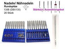 Nadeln 130 B, DBX130, Rundspitze, AUSWAHL 20 Stück