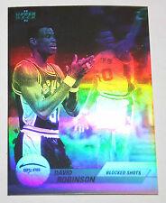 David Robinson 1992-93 Upper Deck Hologram BLOCK SHOTS Basketball Card