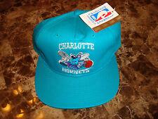 CHARLOTTE HORNETS TEAL G-CAP ORIGINAL  DEADSTOCK  90'S HAT CAP VINTAGE SNAPBACK