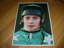 Christopher Maude horse racing NH jockey 26/11/91 main Photo de presse signé