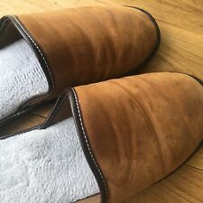 Men's sheepskin slippers, Tan, size 45, used but good condition