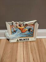 Rare 1975 Heilemans Blatz Beer Hockey Sign Plastic Vintage Advertisement