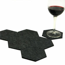 Set of 6 Felt Fabric Hexagon Cup Mat Drink Coaster Beer coffee Placemat Mat Gift