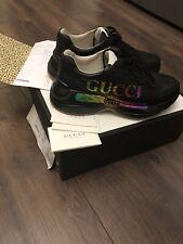 🔥NEU/ORIGINAL:GUCCI RHYTON SNEAKER BLACK Gr. 42.5 EU (=43; 8.5 IT)🔥RETAIL:790!