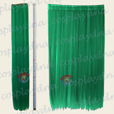 """24"""" Light Green Heat Resistant Clip in Hair Extention Weft 3 pieces Cosplay 7GGE"""