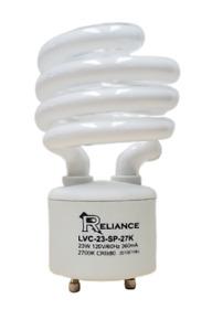 Reliance 23W GU24 CFL Spiral Light Bulb 2700K 23W = 100W Equivalent