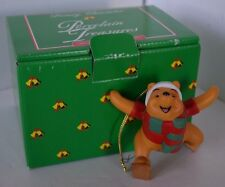 Vintage Disney Grolier Ornament Winnie The Pooh Porcelain Christmas in Box
