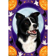 Border Collie Halloween Howls Flag